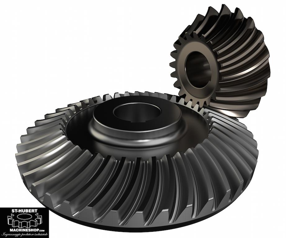 Spiral Bevel Gear : Gears gearboxes st hubert machine shop